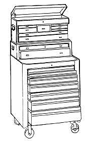 TYPES AND USES Tool boxes are used for storing tools.