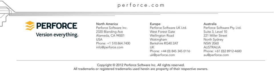 com Australia Perforce Software Pty. Ltd.