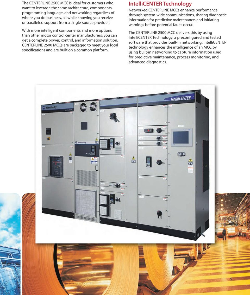 Centerline 2500 Low Voltage Motor Control Centers And
