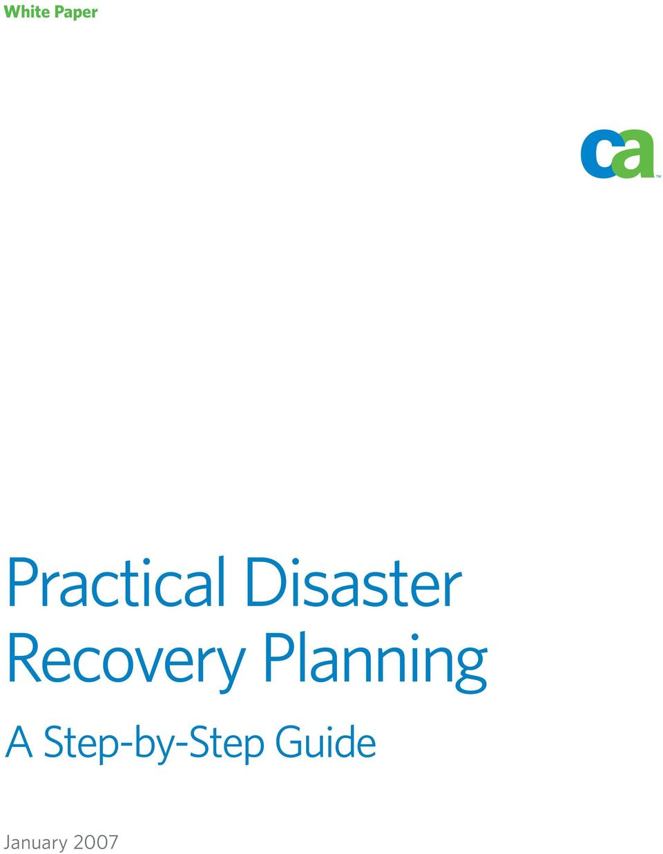 Recovery Planning A