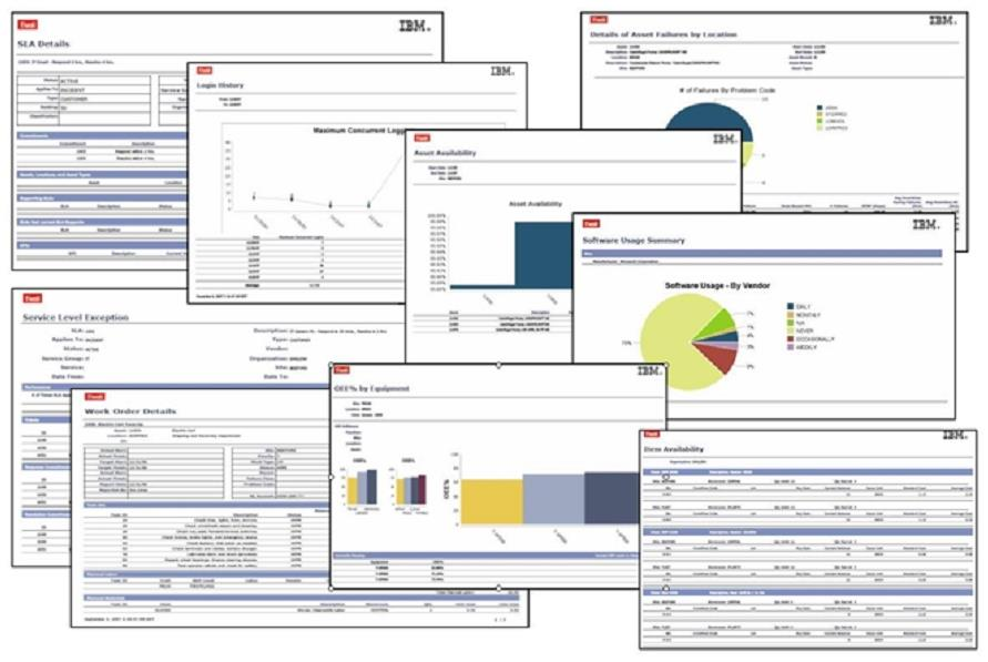 Metrics, Dashboard, reports Operational Reports Work Order