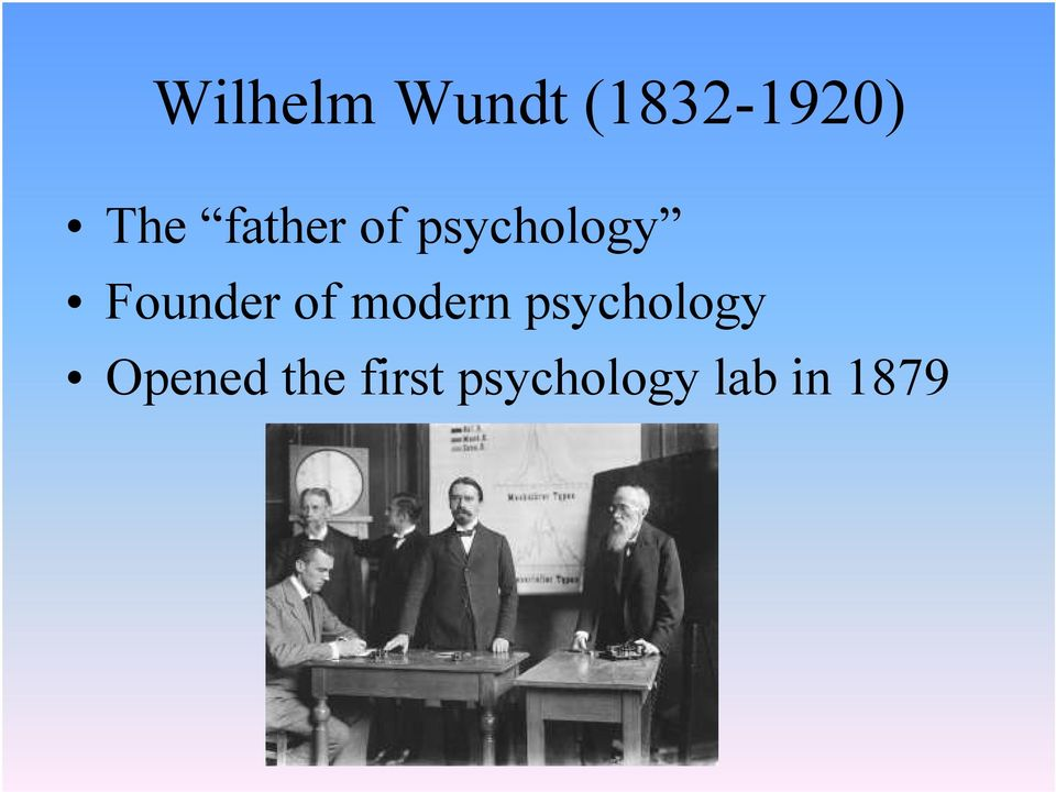 of modern psychology Opened