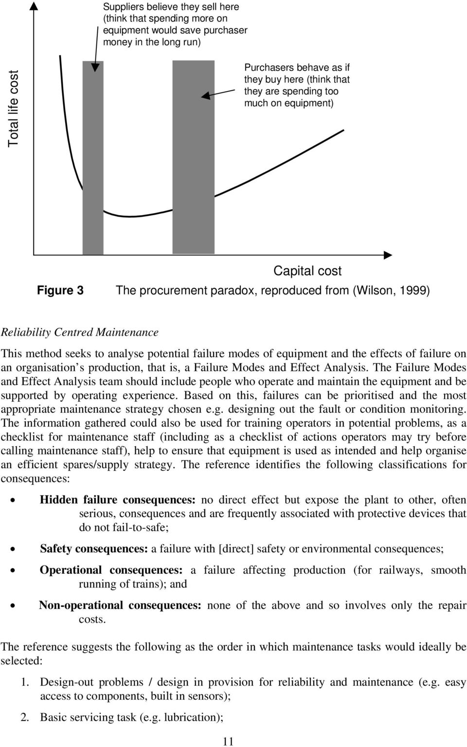 and the effects of failure on an organisation s production, that is, a Failure Modes and Effect Analysis.