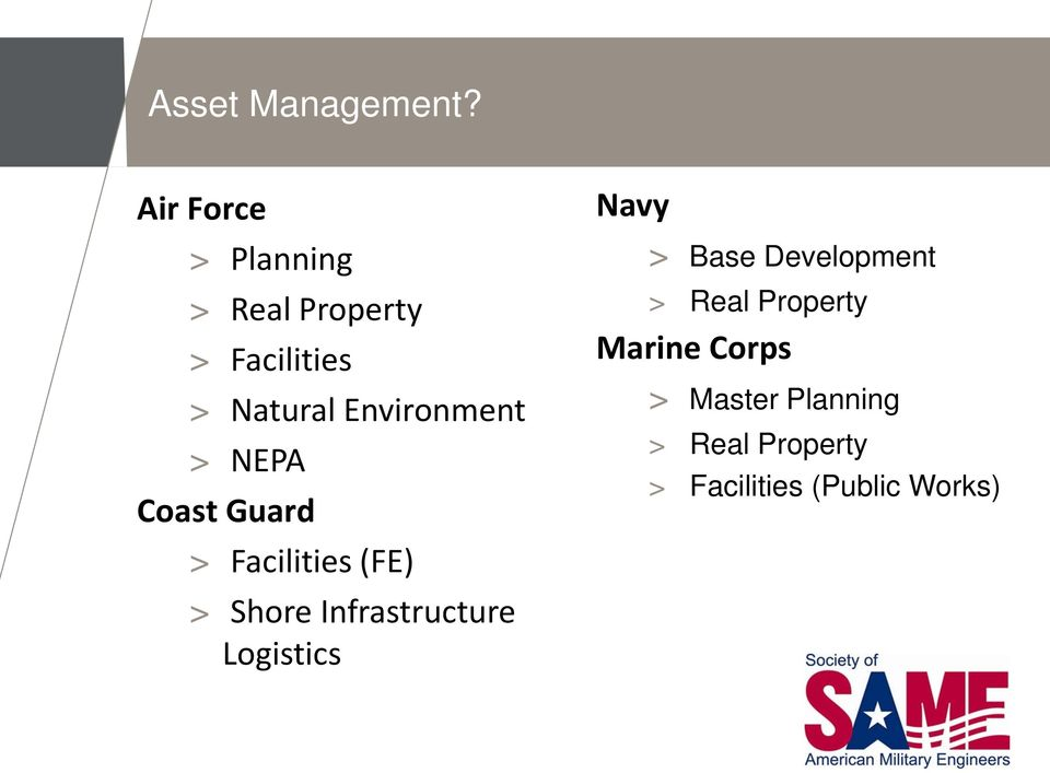 Environment > NEPA Coast Guard > Facilities (FE) > Shore