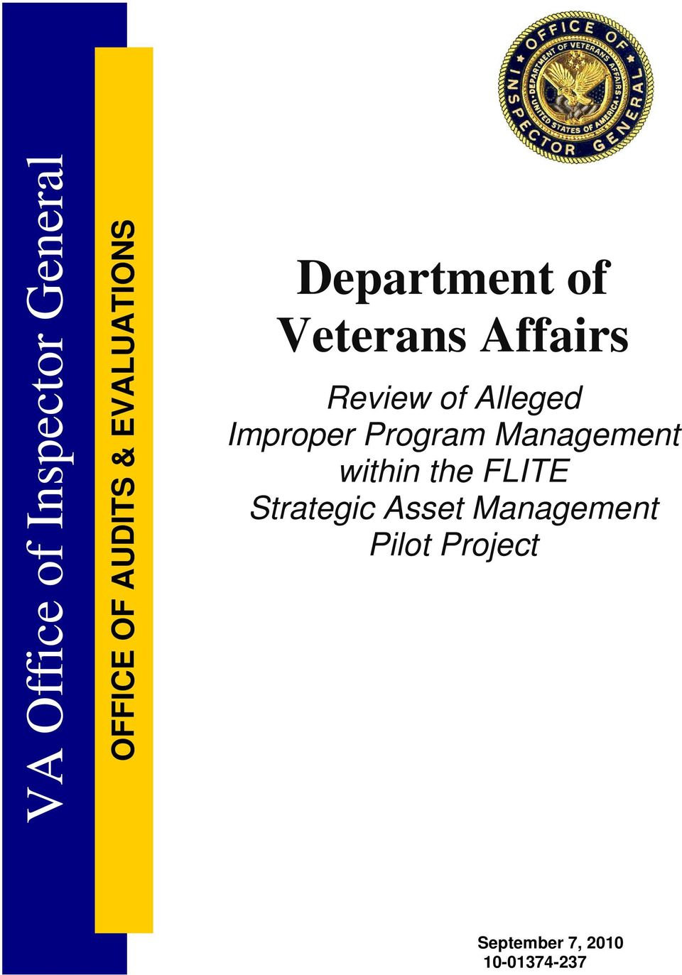 Alleged Improper Program Management within the FLITE
