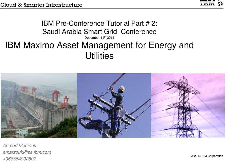 2014 IBM Maximo Asset for Energy and