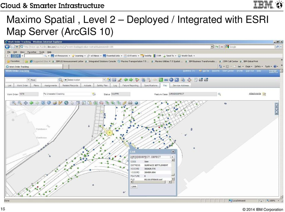 (ArcGIS 10) 16 IBM Maximo for