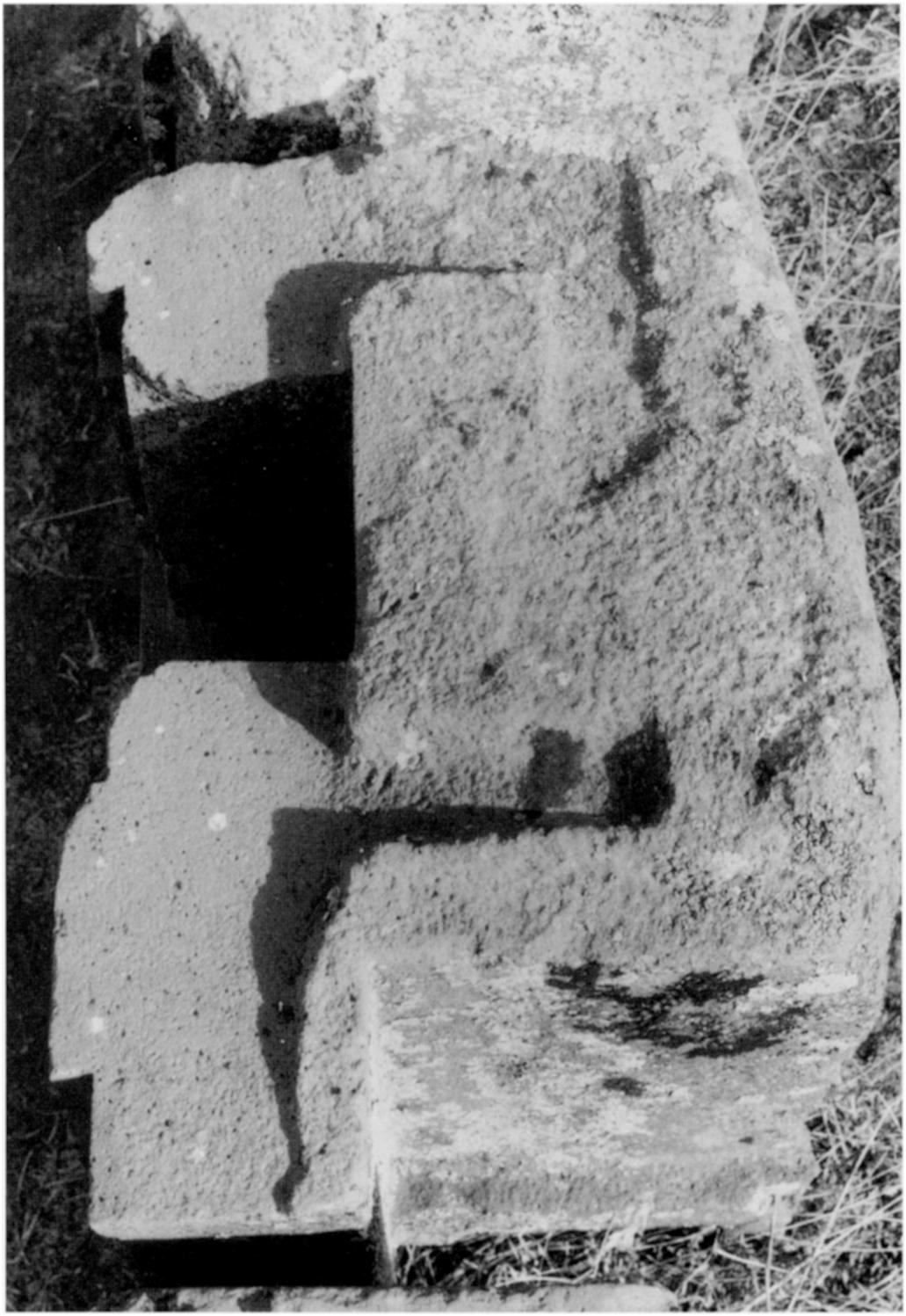 to be carved into a stone, the outer surface was finished before the recess was attacked. Evidence of this is provided by the stepped cross stones at the Kantatayita.