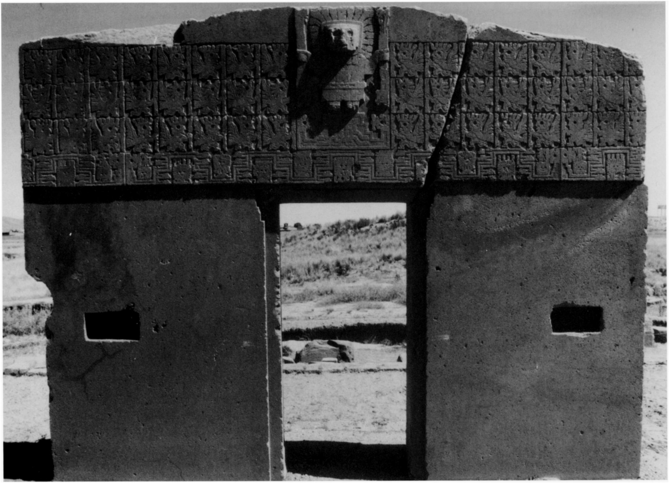 FIGURE 16: Tiahuanaco, Gate of the Sun, front side always appears as a small, recessed simple cross within a larger, recessed simple cross.