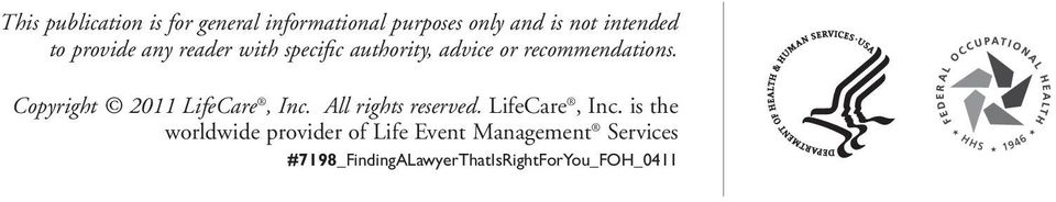 Copyright 2011 LifeCare, Inc.