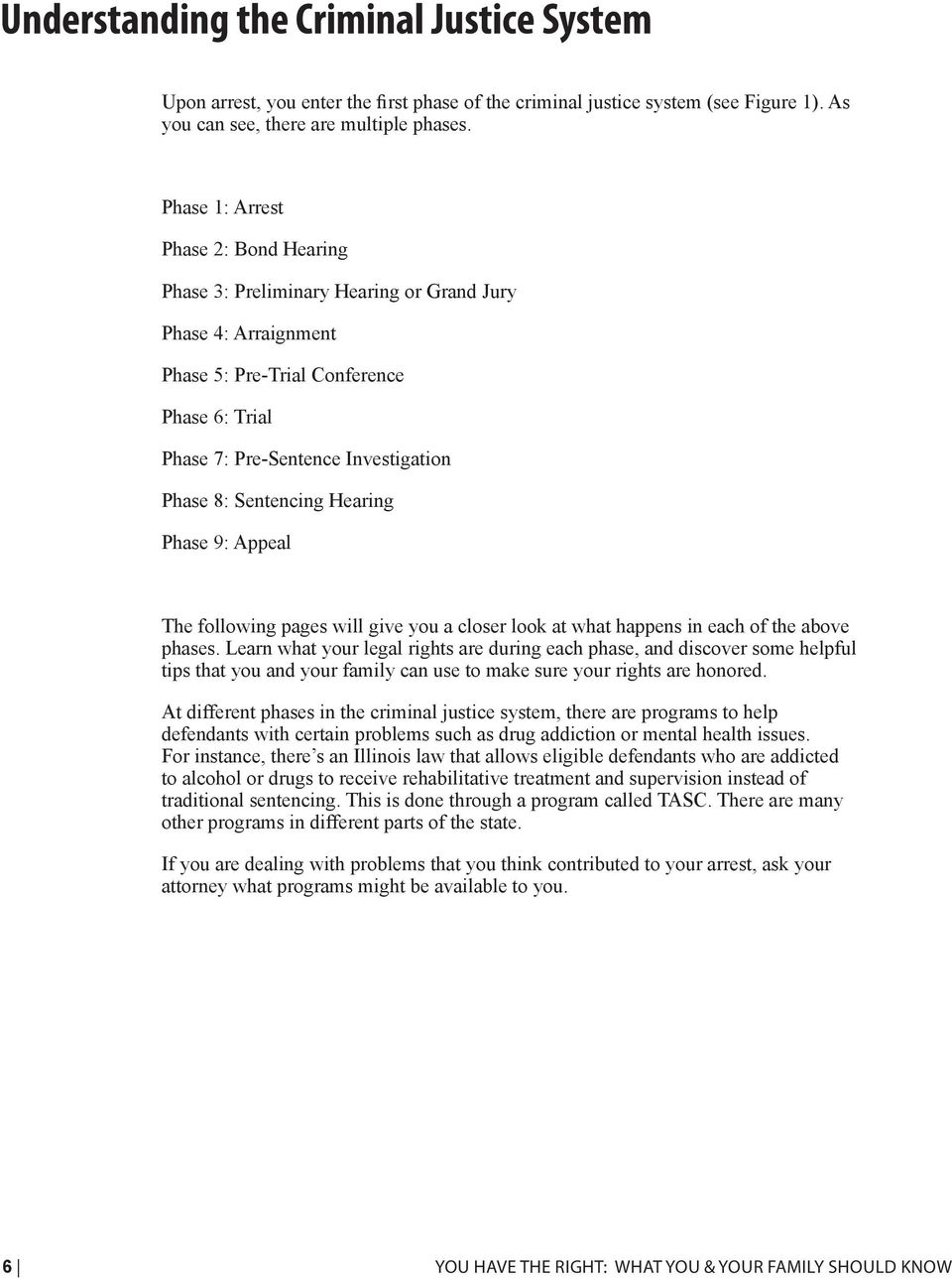 Sentencing Hearing Phase 9: Appeal The following pages will give you a closer look at what happens in each of the above phases.