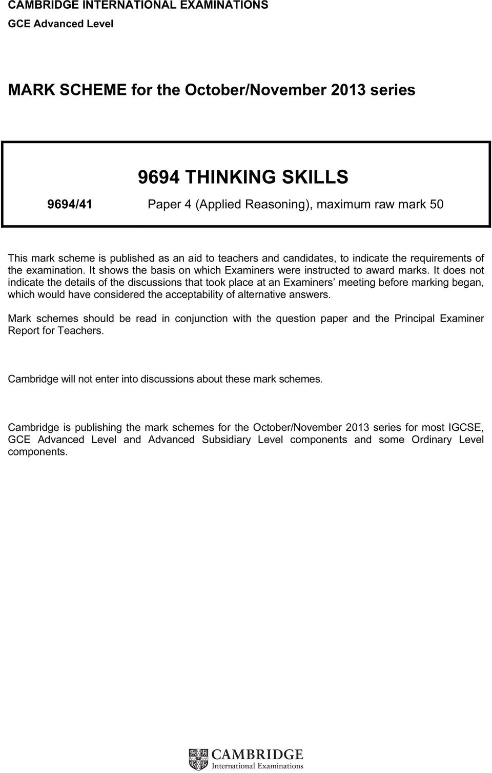 critical thinking ocr unit 4 revision Ocr as/a level gce critical thinking qualification information including specification, exam materials, teaching resources, learning resources.