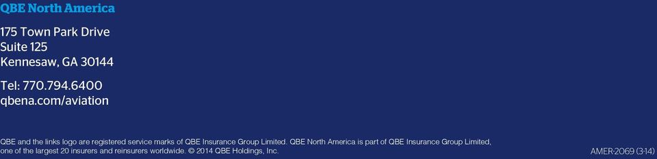 com/aviation QBE and the links logo are registered service marks of QBE Insurance