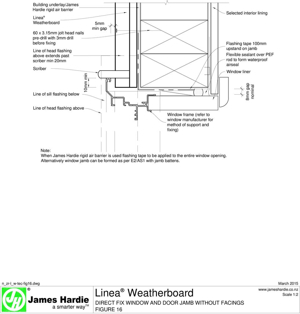Linea weatherboard direct fix concrete slab and soffit figure 1 pdf selected interior lining flashing tape 100mm upstand on jamb flexible sealant over pef rod to form thecheapjerseys Gallery