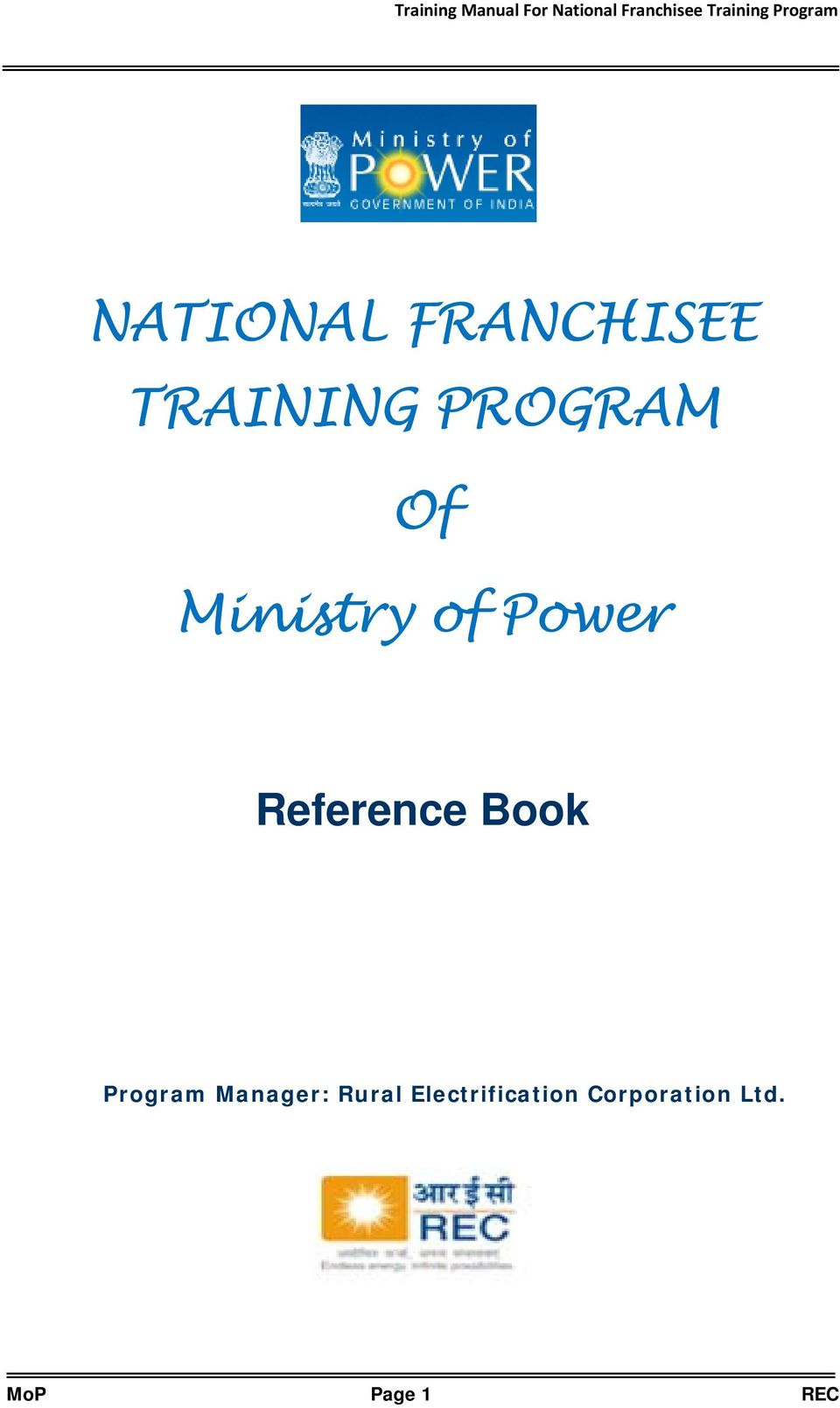 Reference Book Program Manager: