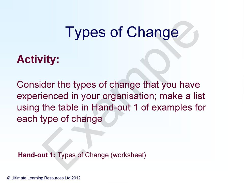 how to implement change in the workplace pdf