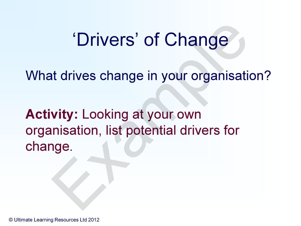 ilm planning change in the workplace The planning change in the workplace unit develops knowledge and understanding of the forces for change in an organization, planning for change in an organization and continuous improvement in an organization.