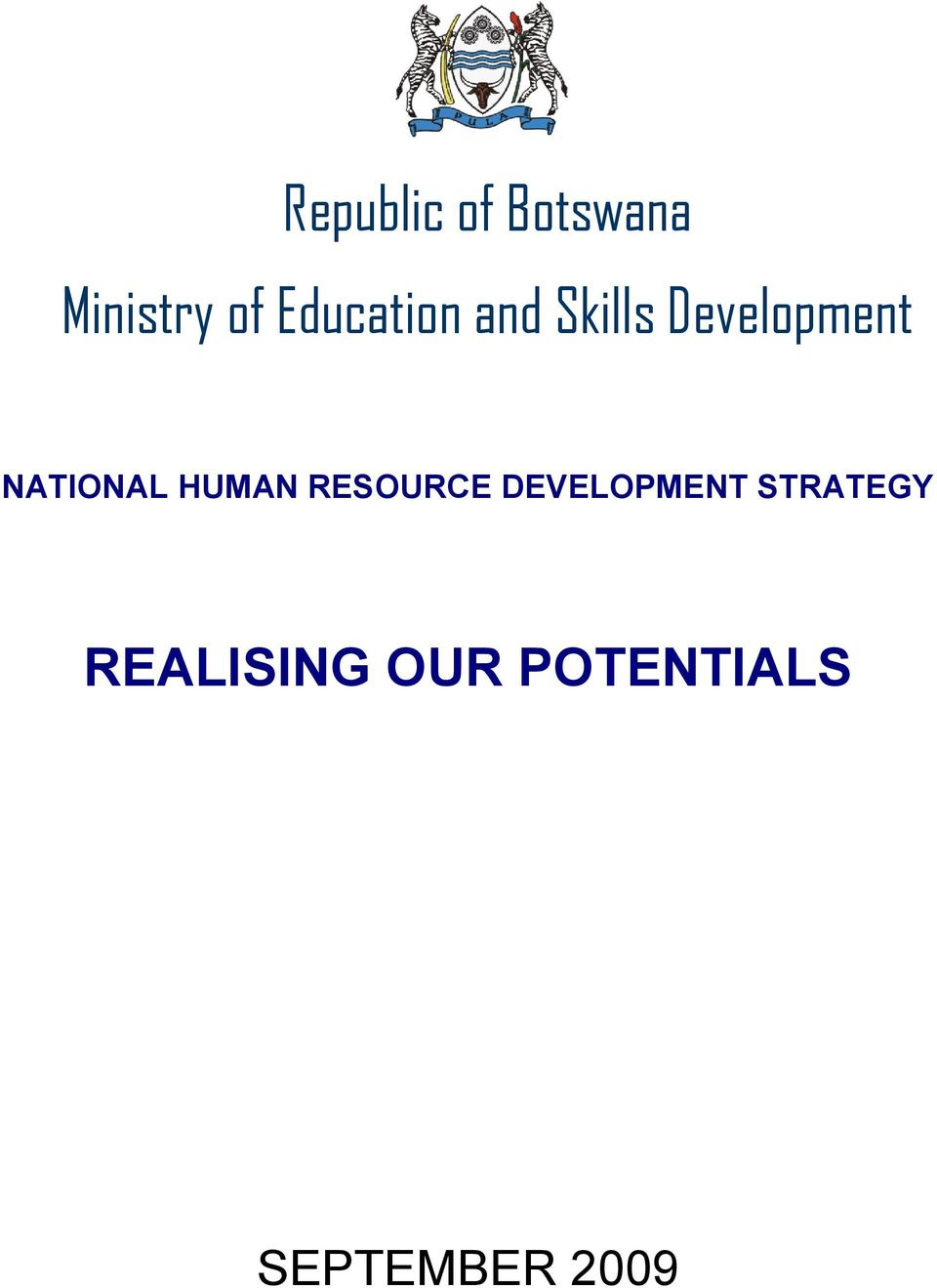 NATIONAL HUMAN RESOURCE DEVELOPMENT