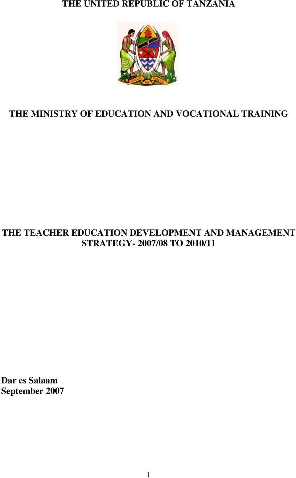 EDUCATION DEVELOPMENT AND MANAGEMENT STRATEGY-