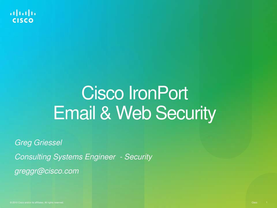 Security greggr@cisco.