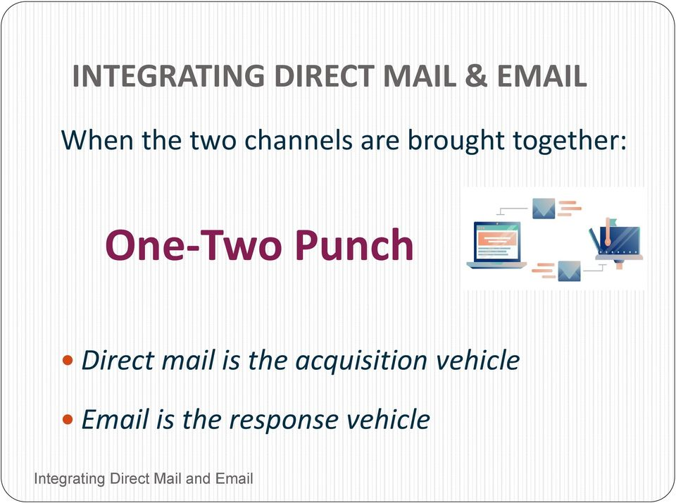 One-Two Punch Direct mail is the