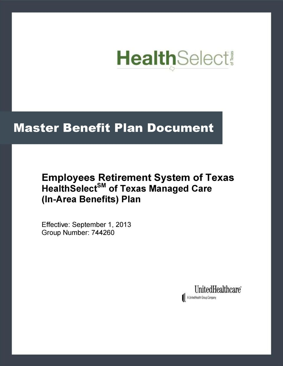 of Texas Managed Care (In-Area Benefits)