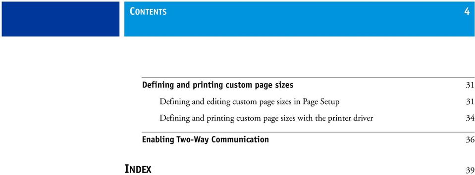31 Defining and printing custom page sizes with the