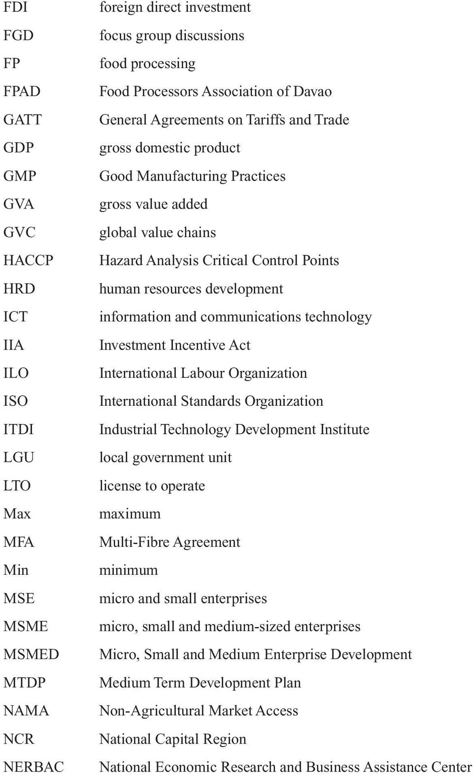 Points human resources development information and communications technology Investment Incentive Act International Labour Organization International Standards Organization Industrial Technology