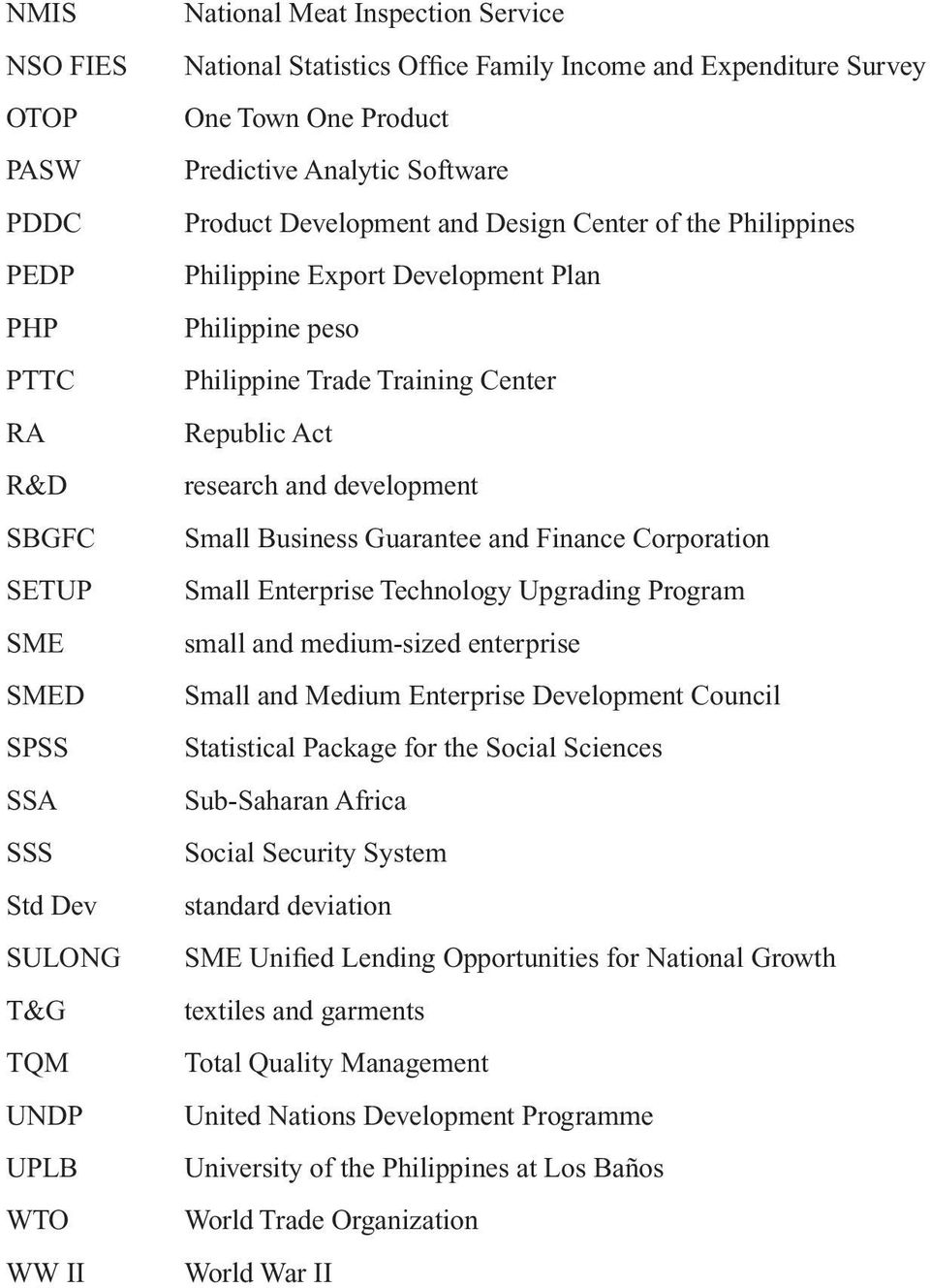 Trade Training Center Republic Act research and development Small Business Guarantee and Finance Corporation Small Enterprise Technology Upgrading Program small and medium-sized enterprise Small and