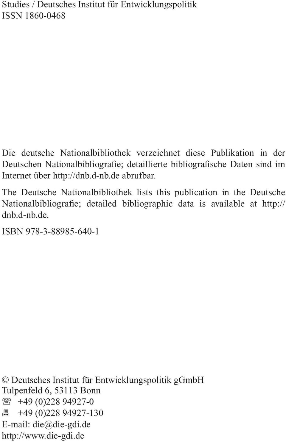 The Deutsche Nationalbibliothek lists this publication in the Deutsche Nationalbibliografie; detailed bibliographic data is available at http:// dnb.