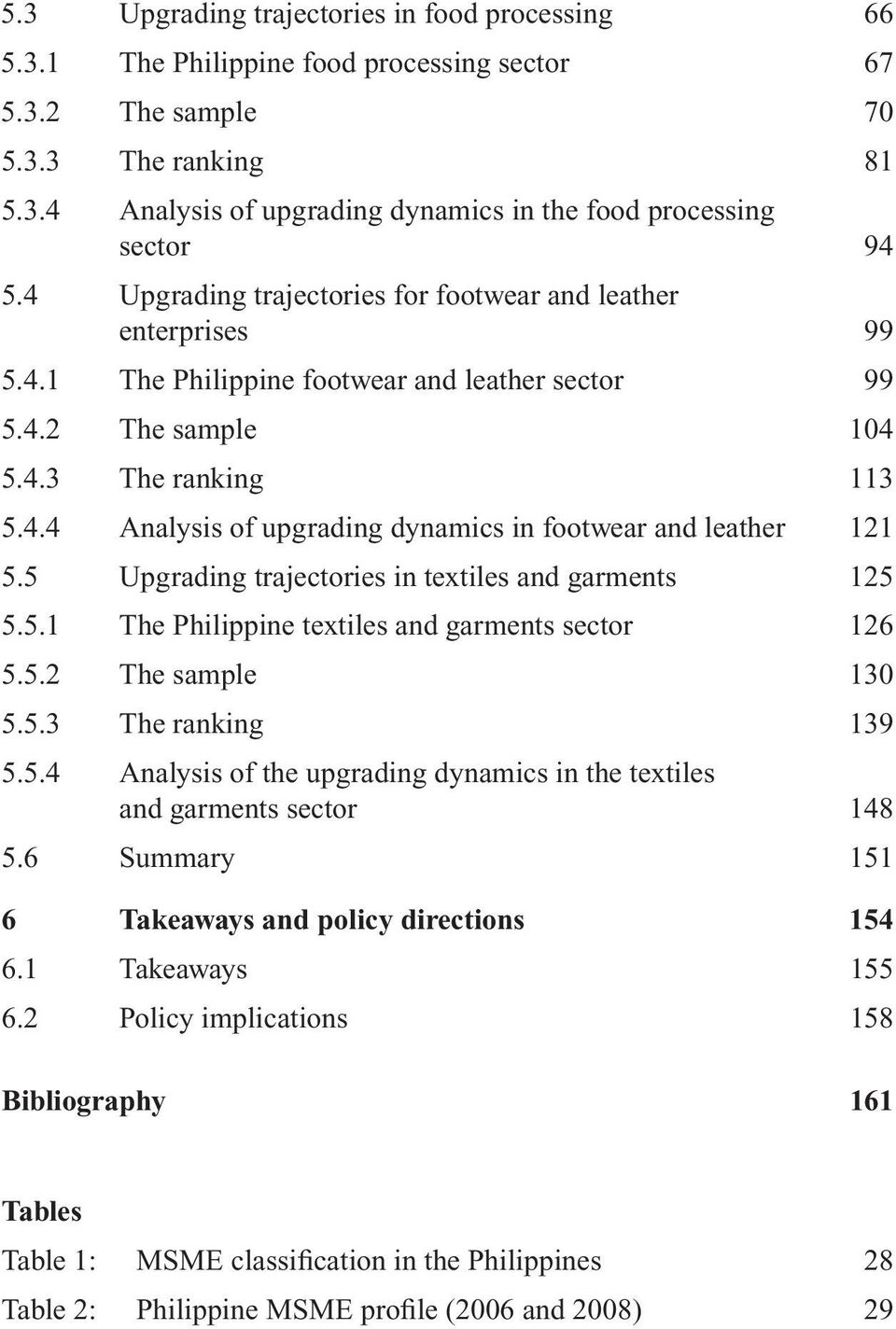 5 Upgrading trajectories in textiles and garments 125 5.5.1 The Philippine textiles and garments sector 126 5.5.2 The sample 130 5.5.3 The ranking 139 5.5.4 Analysis of the upgrading dynamics in the textiles and garments sector 148 5.