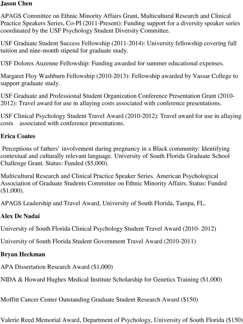 clinical psychology dissertation funding