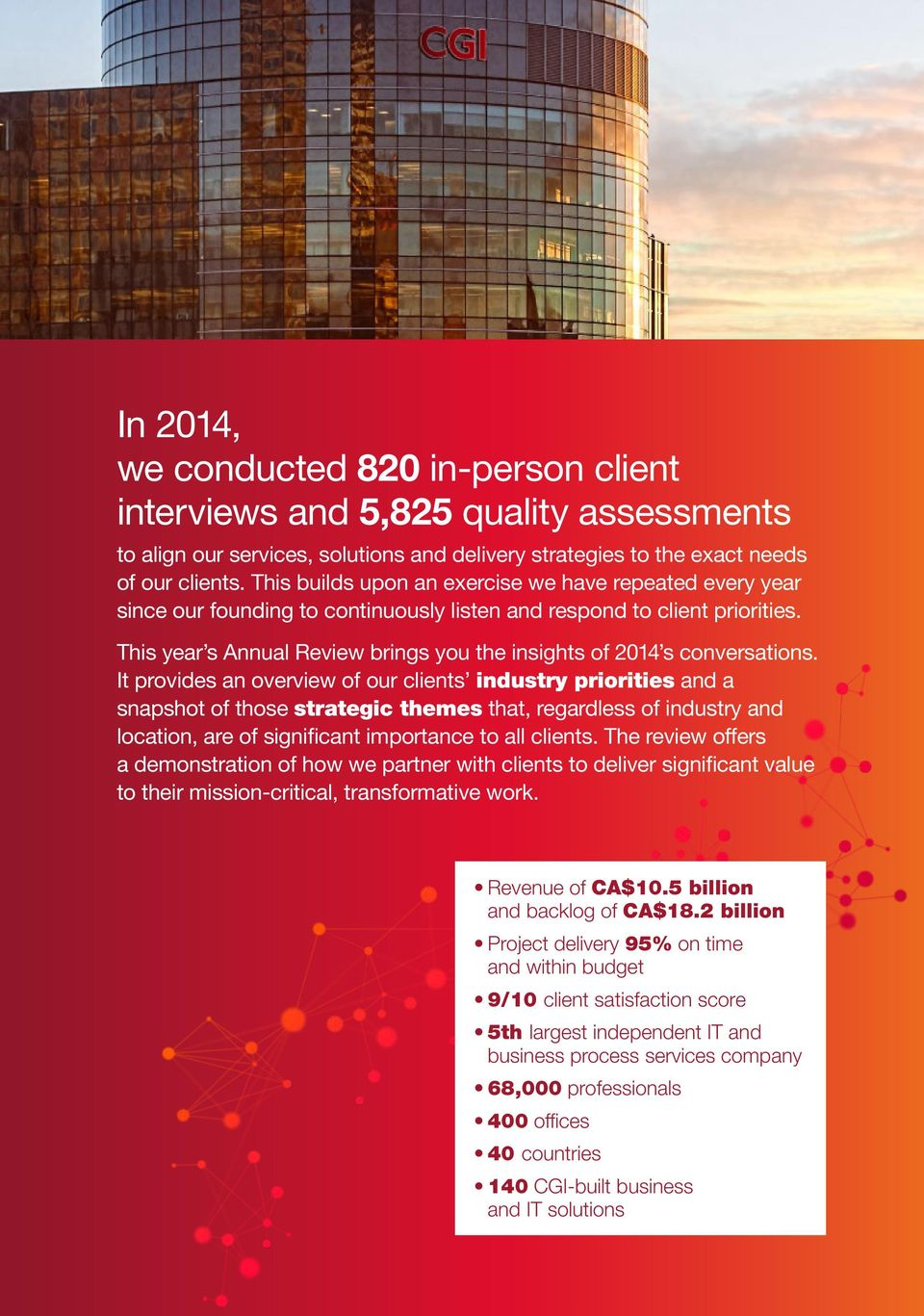 This year s Annual Review brings you the insights of 2014 s conversations.