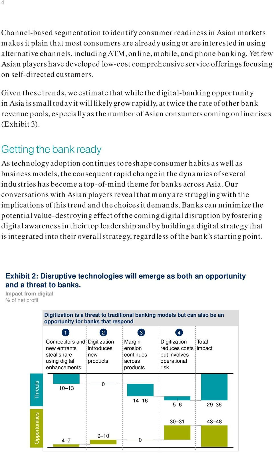 Given these trends, we estimate that while the digital-banking opportunity in Asia is small today it will likely grow rapidly, at twice the rate of other bank revenue pools, especially as the number