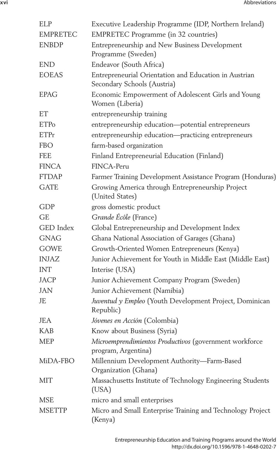 Education in Austrian Secondary Schools (Austria) Economic Empowerment of Adolescent Girls and Young Women (Liberia) entrepreneurship training entrepreneurship education potential entrepreneurs