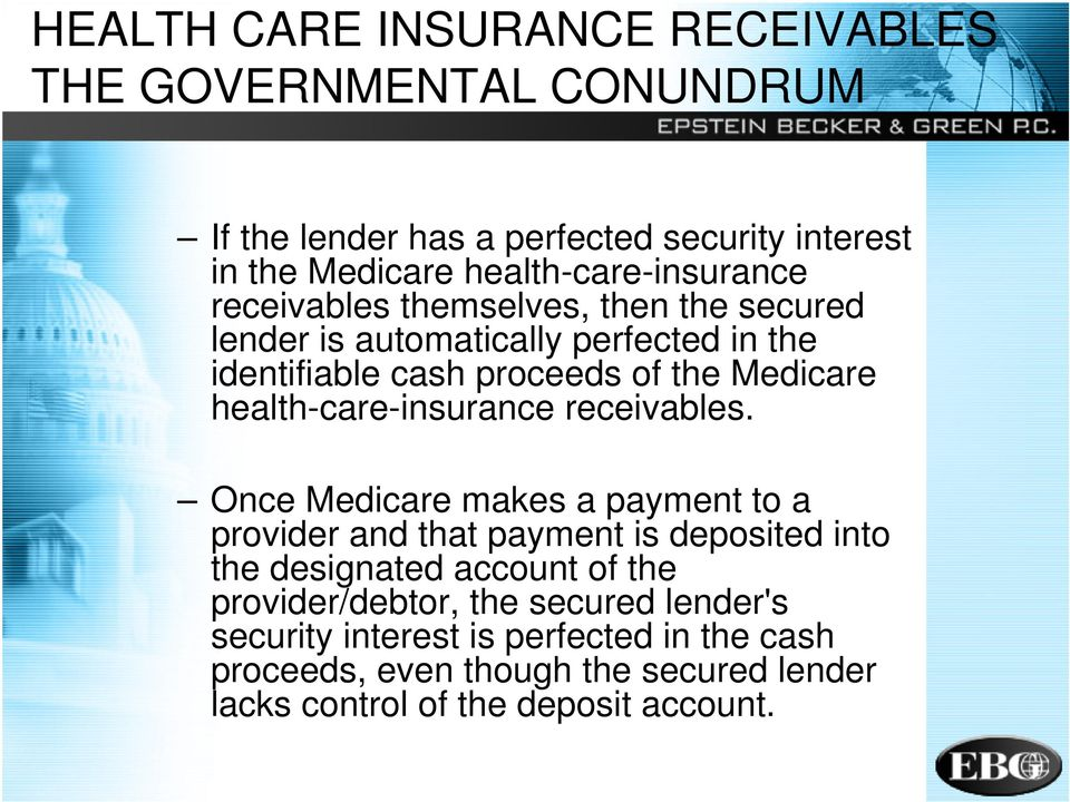 Medicare health-care-insurance receivables.
