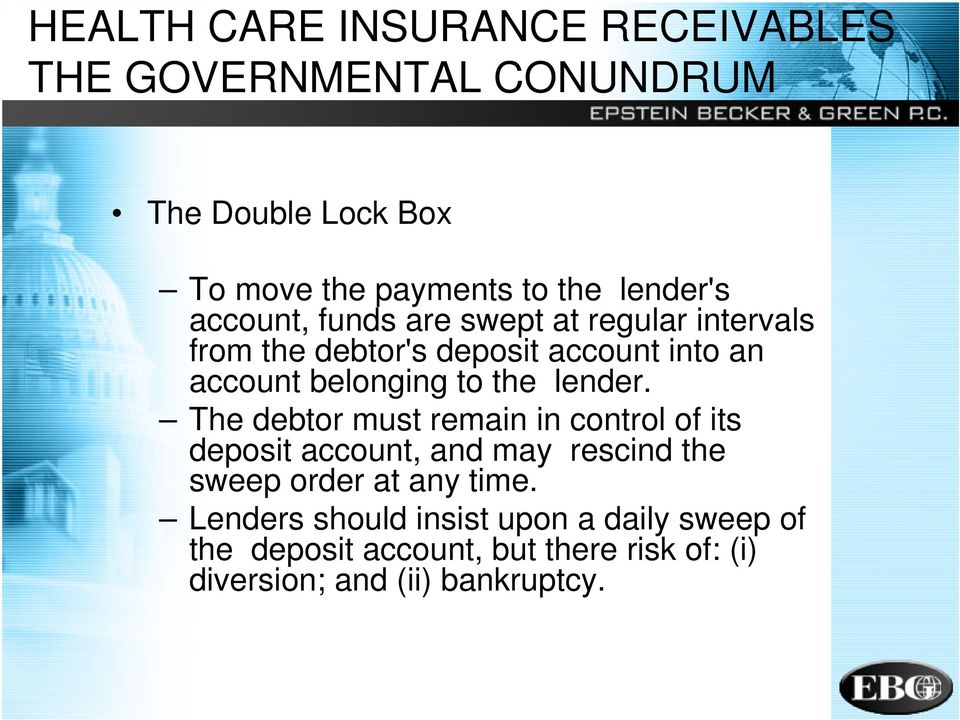 to the lender.