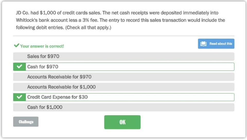 The entry to record this sales transaction would include the following debit entries. (Check all that apply.