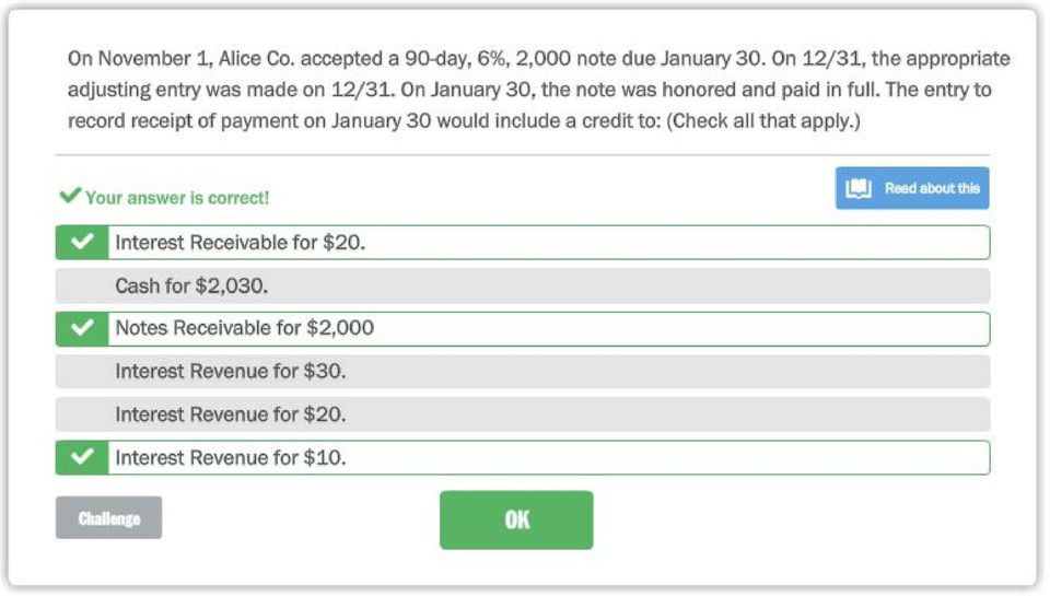The entry to record receipt of payment on January 30 would include a credit to: (Check all that apply.