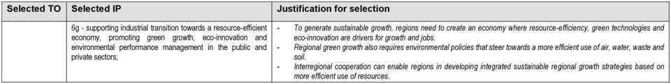 technologies and eco-innovation are drivers for growth and jobs.