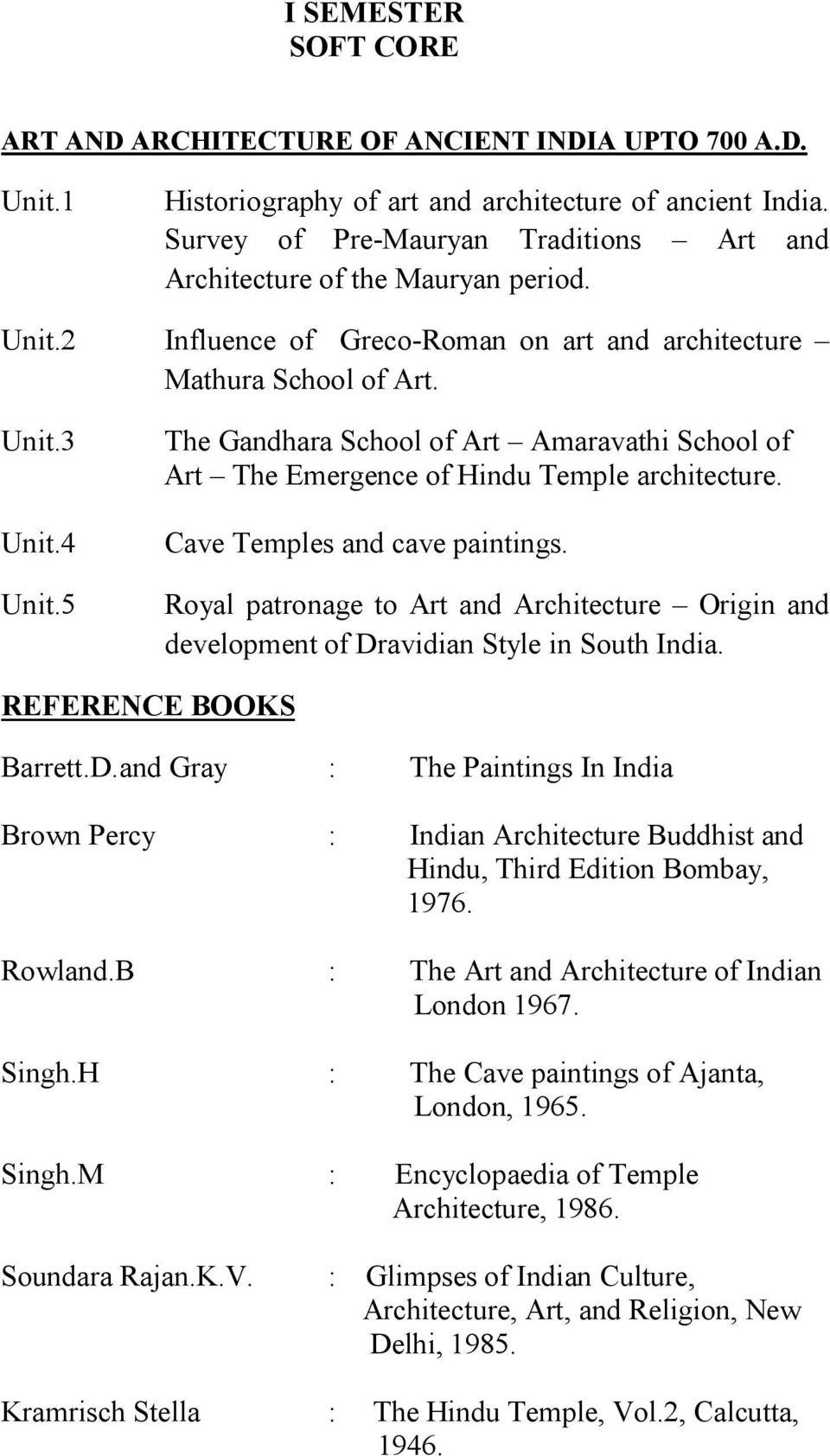 5 The Gandhara School of Art Amaravathi School of Art The Emergence of Hindu Temple architecture. Cave Temples and cave paintings.