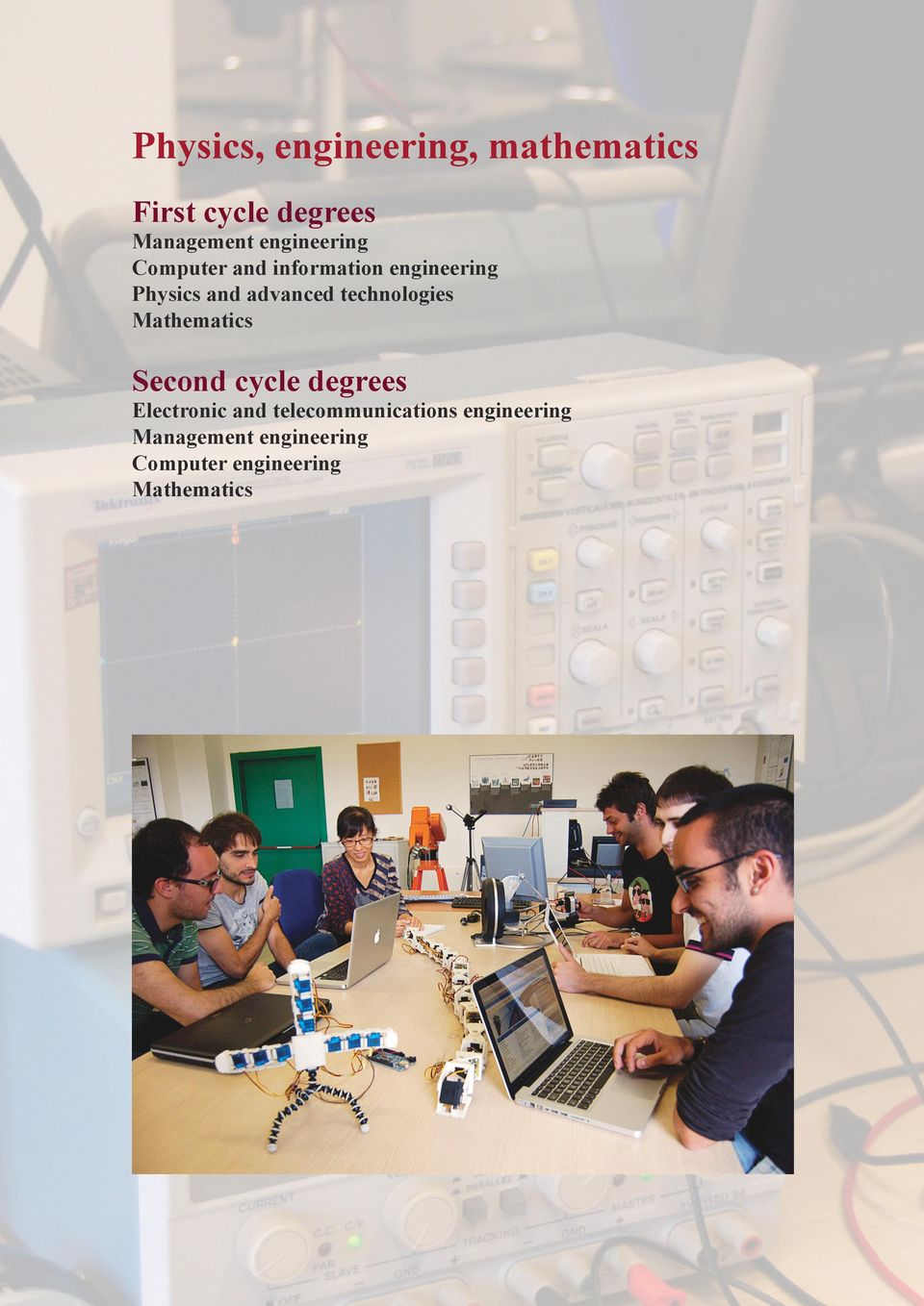 technologies Mathematics Second cycle degrees Electronic and