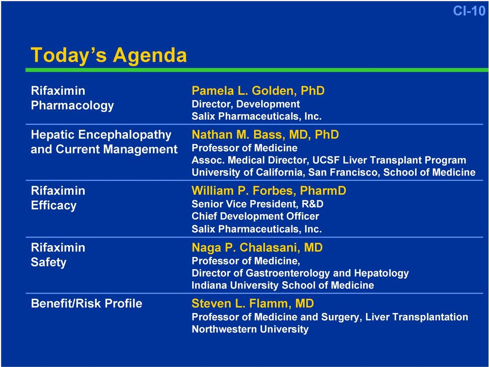 Medical Director, UCSF Liver Transplant Program University of California, San Francisco, School of Medicine William P.