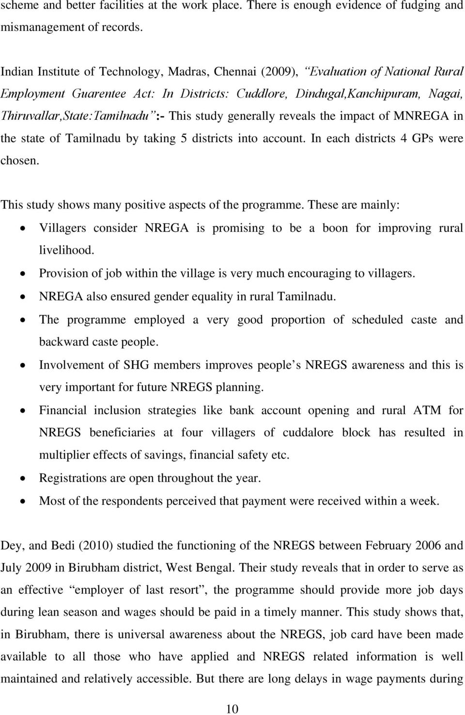 nrega thesis National rural employment guarantee scheme the national rural employment guarantee act was notified by the government of india on september, 2005 and.
