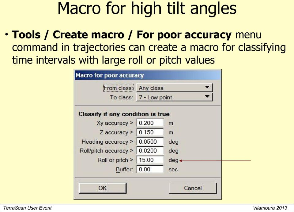 trajectories can create a macro for