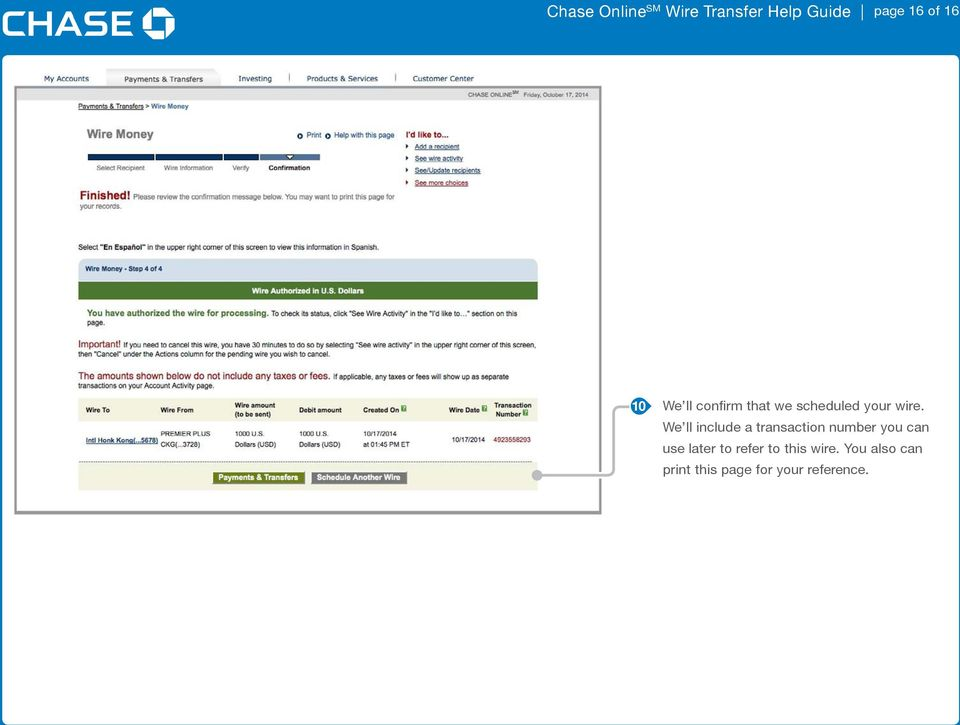 Chase Incoming International Wire Transfer Instructions on