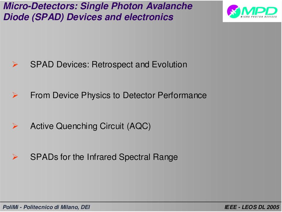 Evolution From Device Physics to Detector Performance