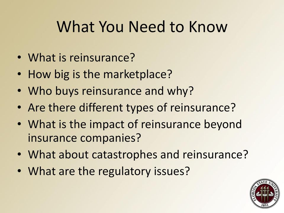 Are there different types of reinsurance?