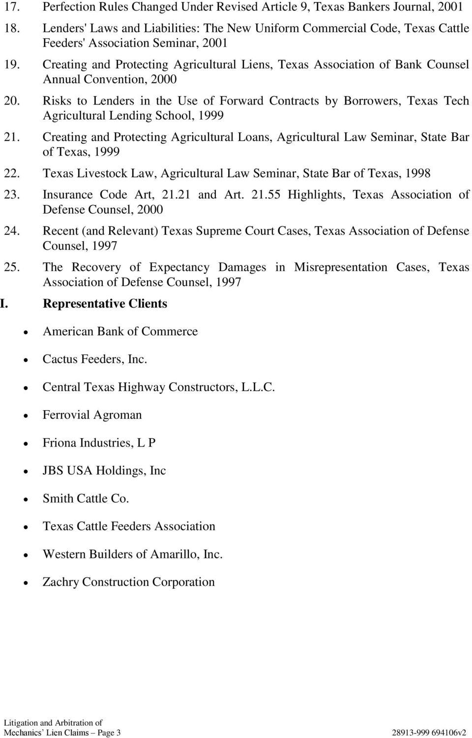 Creating and Protecting Agricultural Liens, Texas Association of Bank Counsel Annual Convention, 2000 20.