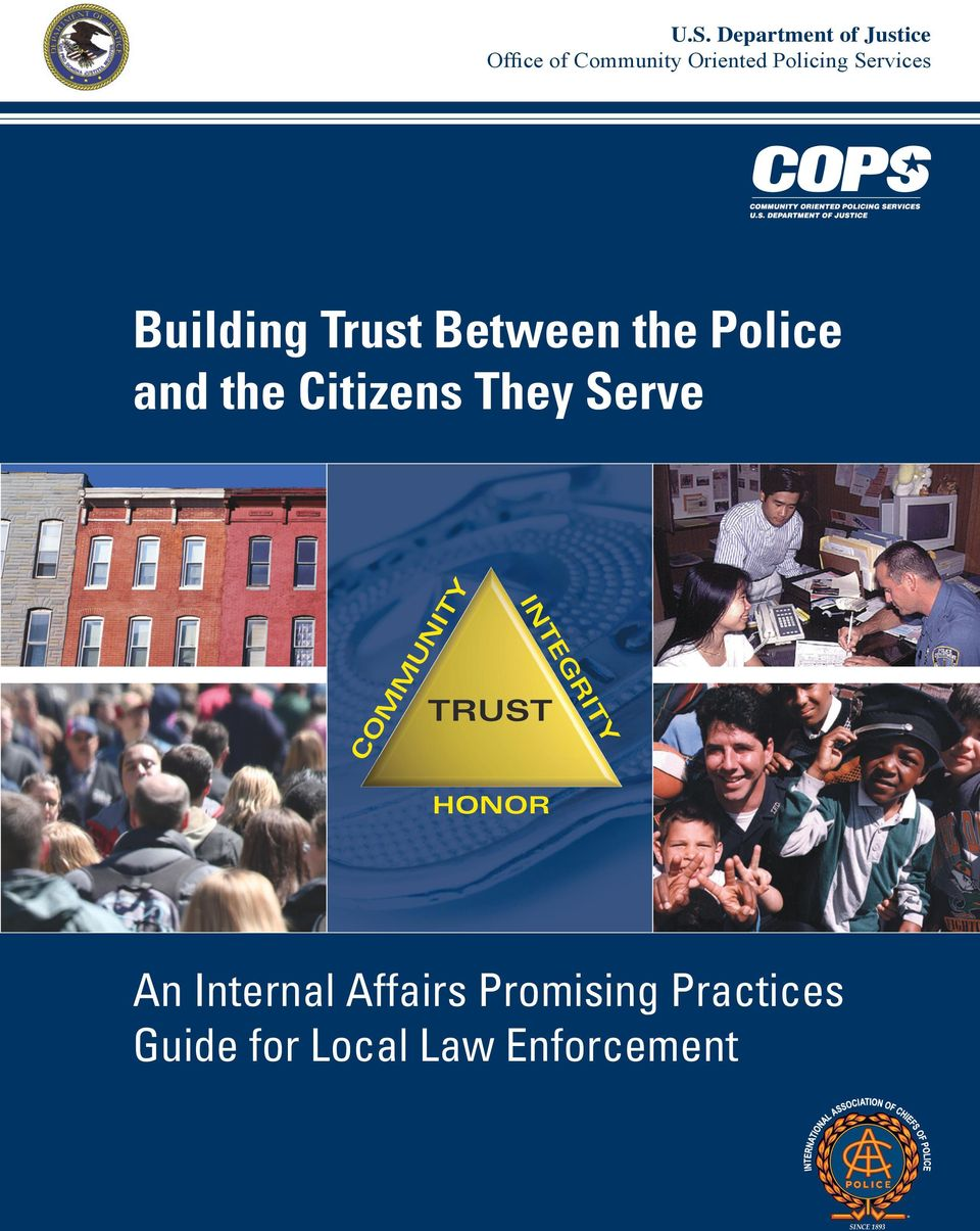 Citizens They Serve COMMUNITY TRUST INTEGRITY HONOR An
